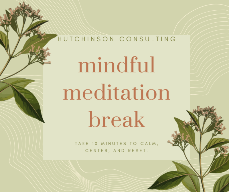 Meditation Break Flyer