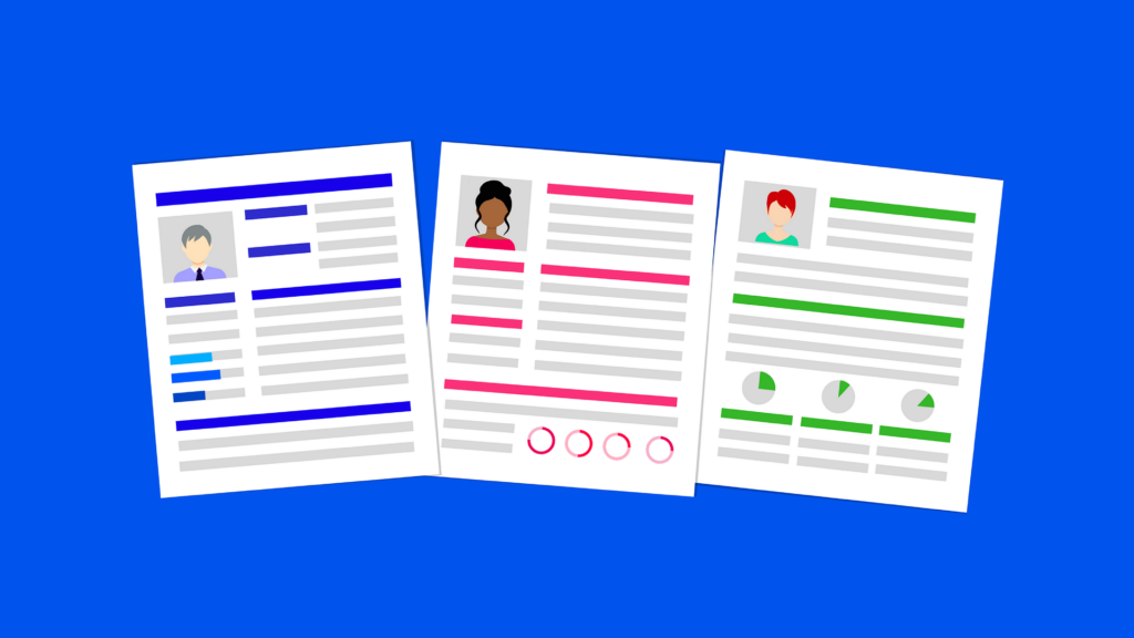 Resume Illustration images