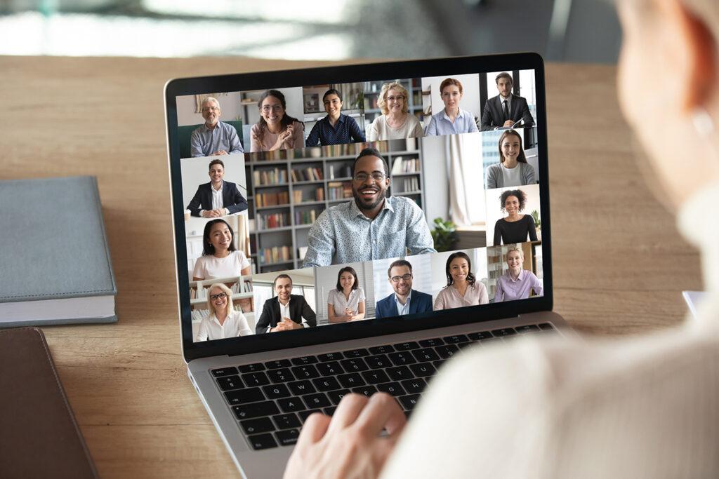 People in a Zoom meeting